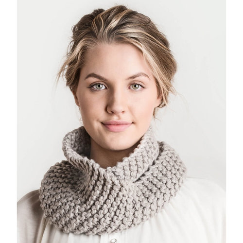 Spud & Chloe by Blue Sky Fibers Crystal Cowl Kit - Grey (GREY)