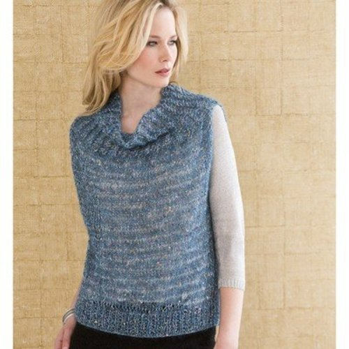 Stacy Charles Fine Yarns Anais Cowl-Collar Vest PDF -  ()