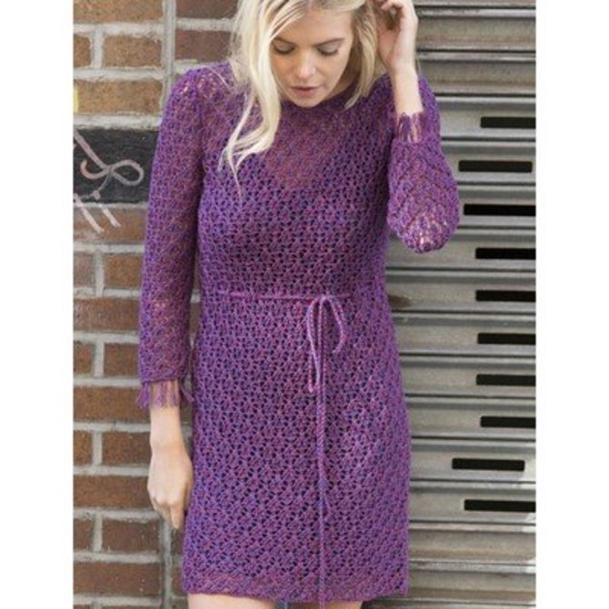 Violet Dress Knitting Pattern : Stacy Charles Fine Yarns Clematis Lace Dress PDF at WEBS Yarn.com