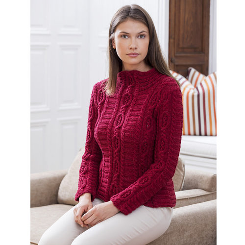 Stacy Charles Fine Yarns Cloisters Cabled Mock Turtleneck PDF -  ()