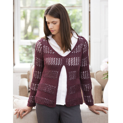 Stacy Charles Fine Yarns Cornwall Split Front Pullover PDF -  ()