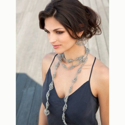Stacy Charles Fine Yarns Estee Necklace and Earrings (Free) -  ()