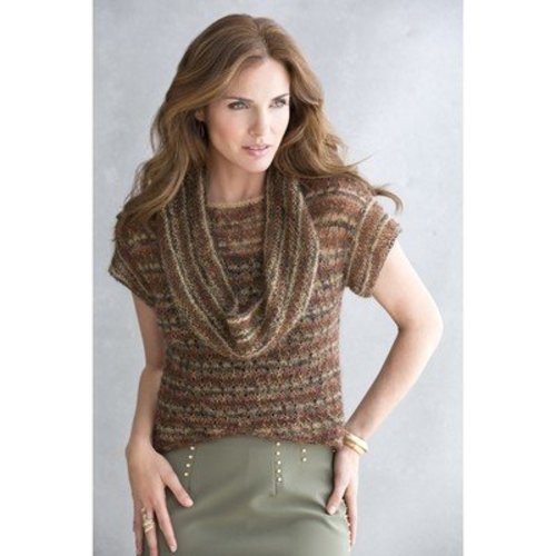 Stacy Charles Fine Yarns Keely Cowl-Collar Top PDF -  ()