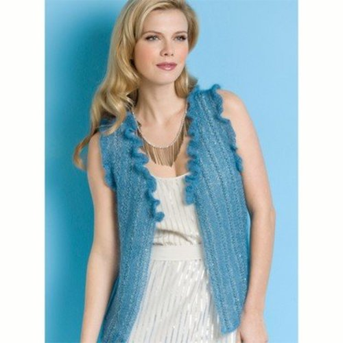 Stacy Charles Fine Yarns Nicole Ruffled Vest PDF -  ()