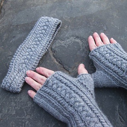 Steppingstone Fiber Creations Bluster-Proof Mitts and Headband PDF -  ()