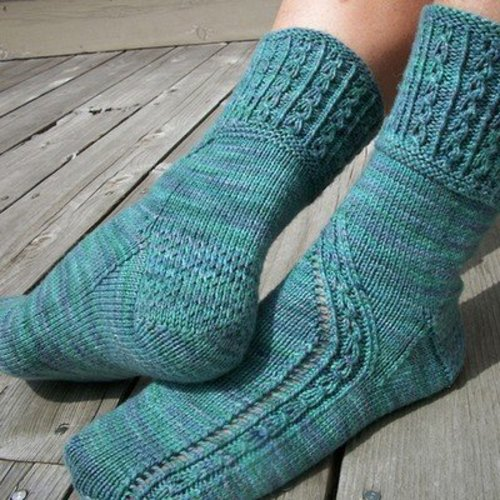 Steppingstone Fiber Creations Bubblicious Socks PDF -  ()