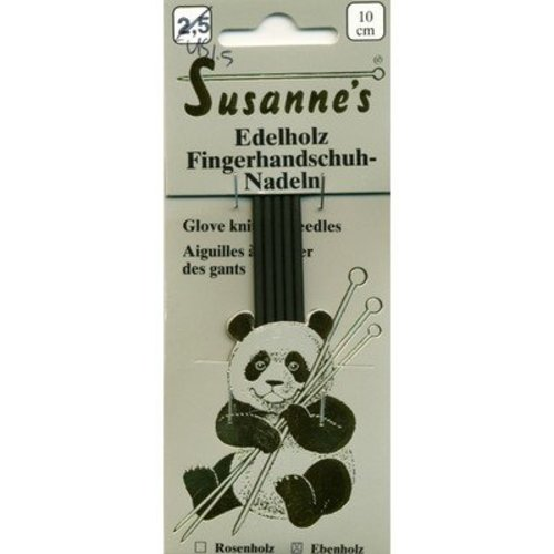 "Susanne's Ebony 4"" Double Point Glove Needles -  ()"