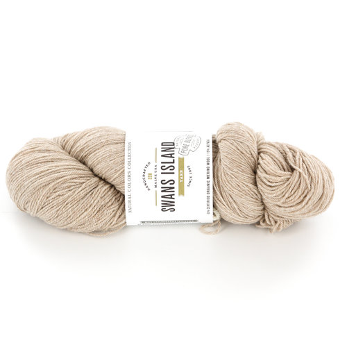 Swans Island Fingering Discontinued Colors - Oatmeal (with Alpaca) (110)