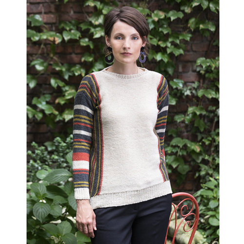 Tahki Yarns Catamaran Hi-Lo Striped Pullover and Cowl PDF -  ()