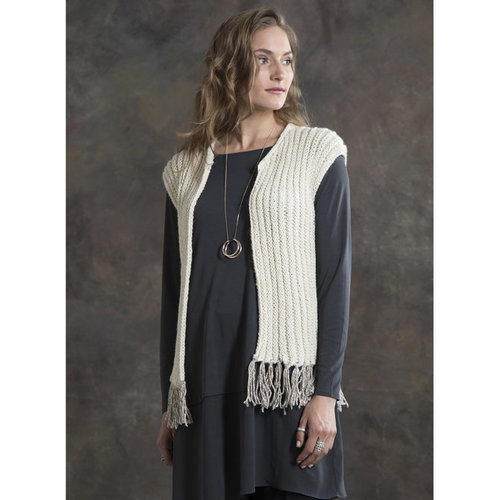 Tahki Yarns Cottonwood Fringed Vest PDF -  ()