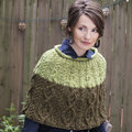 Tahki Yarns Cruiser Cabled Colorblock Capelet Kit - S-M (01)