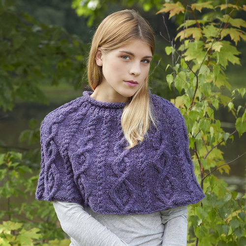 Tahki Yarns Derry Capelet and Hat PDF -  ()