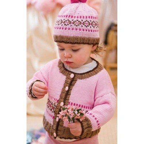 Tahki Yarns Fair Isle Cardigan & Hat PDF -  ()