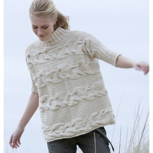 Tahki Yarns Georgica Horizontal Cable Pullover (Free) -  ()