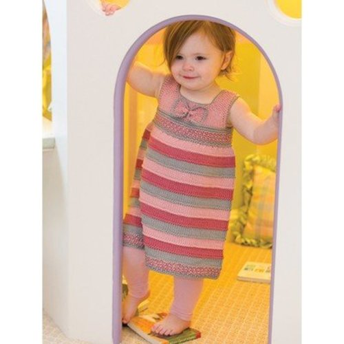 Tahki Yarns Little Bow-Peep Striped Dress & Headband PDF -  ()