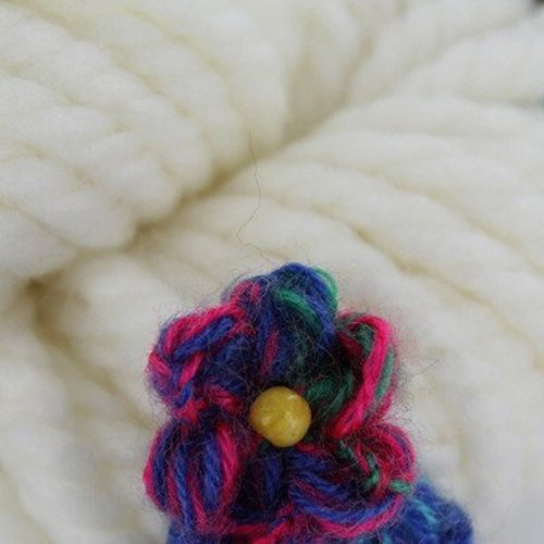 Tahki Yarns Poppy - White-bright Multicolor Flowers (001)