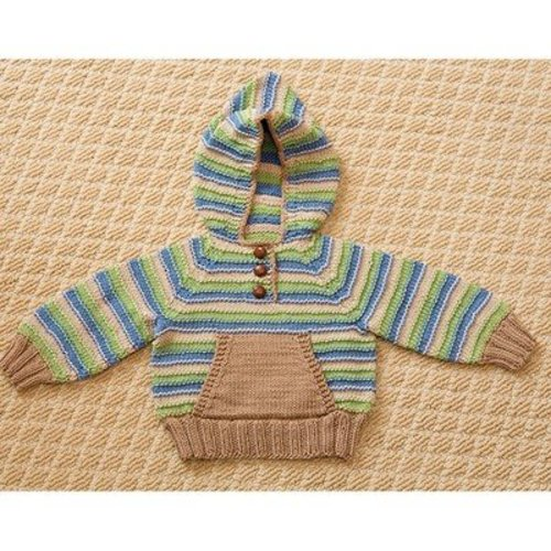 Tahki Yarns Striped Hoodie & Hat PDF -  ()
