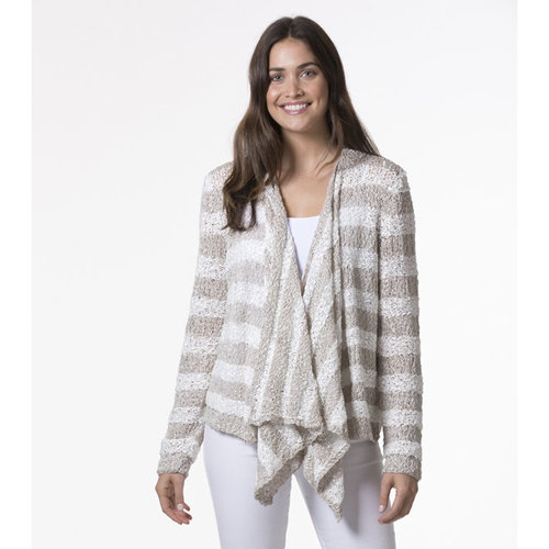 Tahki Yarns Structural Striped Cardigan PDF -  ()