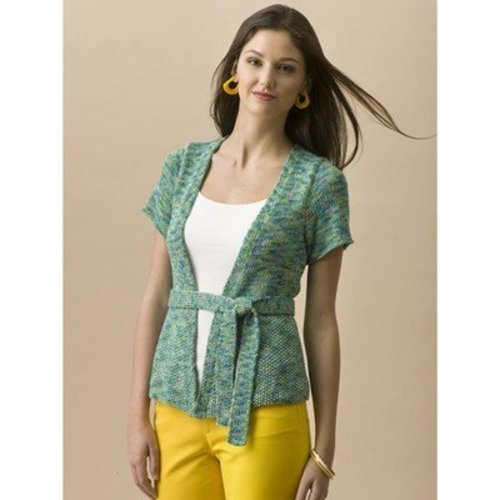 Tahki Yarns Willow Belted Cardigan PDF -  ()