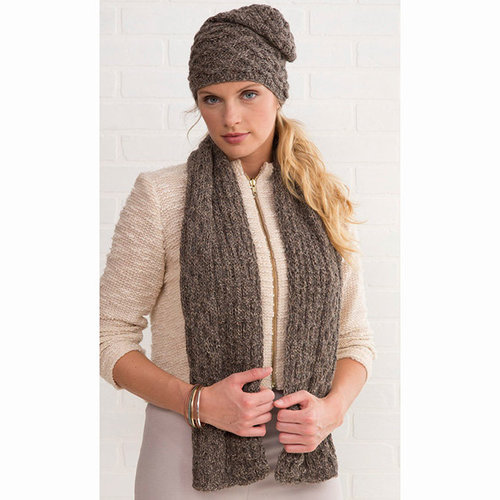 Tahki Yarns Winter Woods Scarf & Hat PDF -  ()
