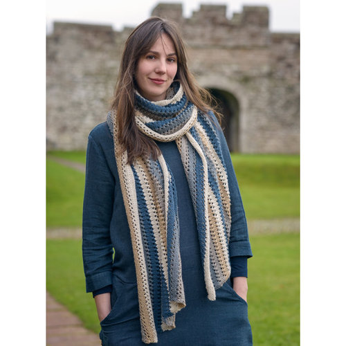 The Fibre Co. Striped Poncho Kit - Model (1)