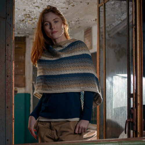 The Fibre Co. Striped Poncho PDF -  ()