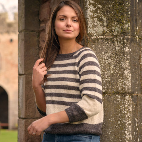 The Fibre Co. Striped Sweater PDF -  ()