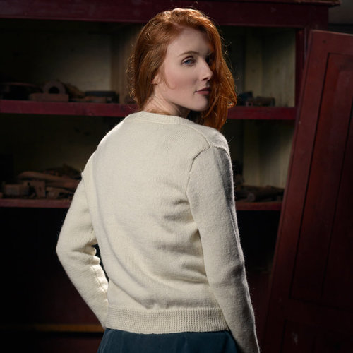 The Fibre Co. V-Neck Cardigan PDF -  ()
