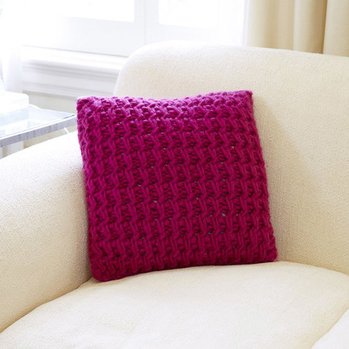 Third Piece Textured Interweave Pillow PDF -  ()