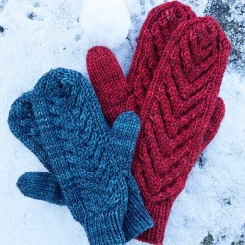 Tin Can Knits Antler Mittens PDF -  ()