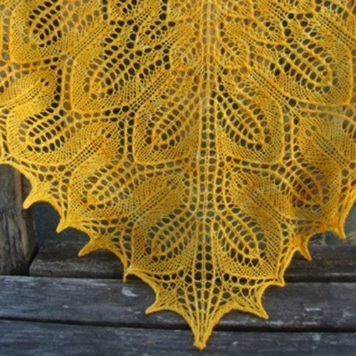 Tin Can Knits Sunflower Shawl PDF -  ()