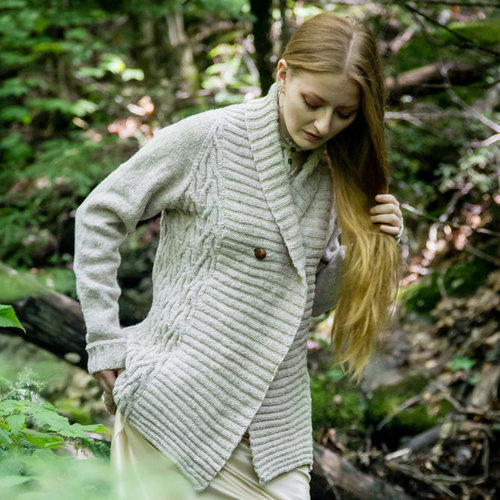 Two of Sticks Burr Oak Cardigan PDF -  ()
