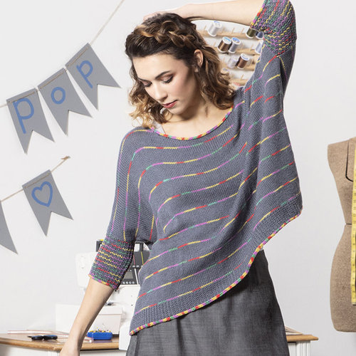 Universal Yarn 01 Pullover in Bamboo Pop PDF -  ()