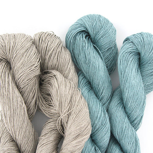 Universal Yarn Adelie Scarf Kit - Taupe-Mineral (02)