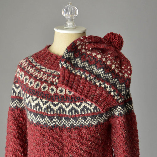 Universal Yarn Asheville Sweater and Hat (Free) PDF -  ()