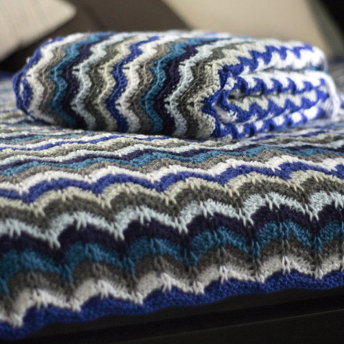 Universal Yarn Colorbloom Afghan Kit - Icy Blues (ICYB)