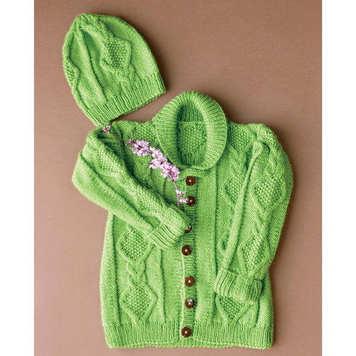 Universal Yarn Early Spring Cardigan and Hat PDF -  ()