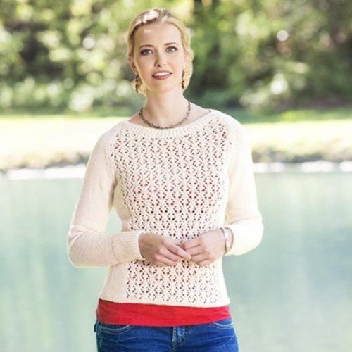 Universal Yarn Fleurette Lace Pullover (Free) -  ()