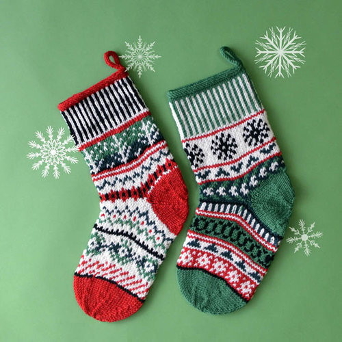 Universal Yarn Holiday Snowflake & Trees Stockings Color Kit - Holiday (HOLI)