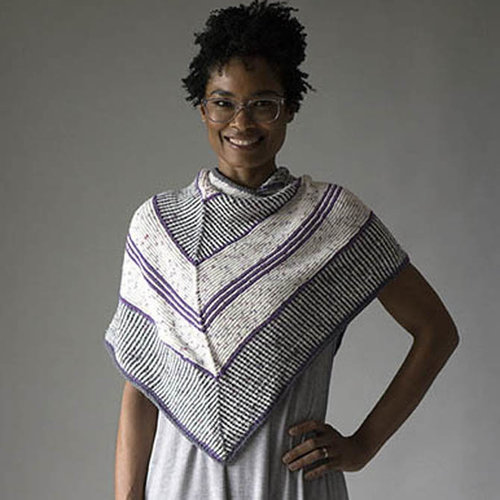 Universal Yarn Right Turn Shawl (Free) -  ()