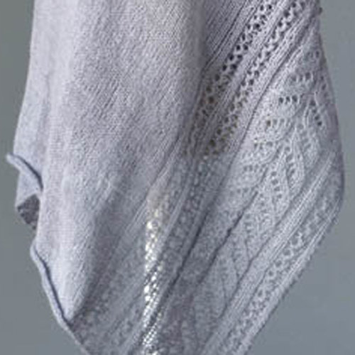 Universal Yarn Rime Shawl Kit - Dove Gray (01)