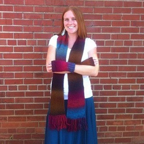 Universal Yarn Seed Stitch Scarf and Mitts (Free) -  ()