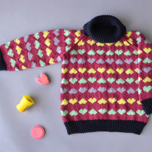 Universal Yarn Sweetheart Sweater PDF -  ()