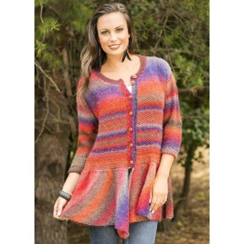 Universal Yarn Walking Bird Cardigan (Free) -  ()