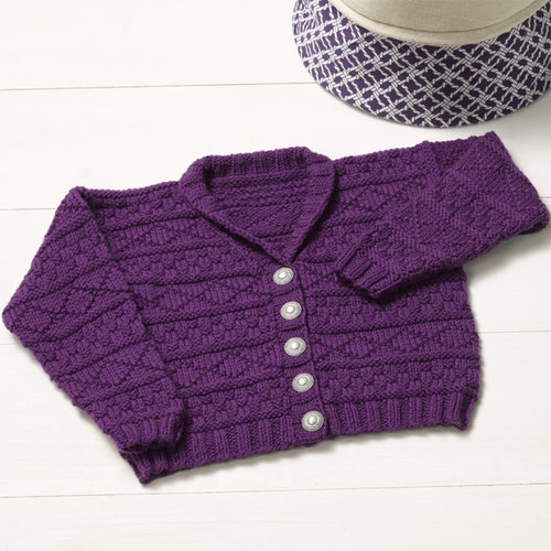"Valley Yarns 003 Play Date Cardigan Kit - 22.5-24.25"" (01)"