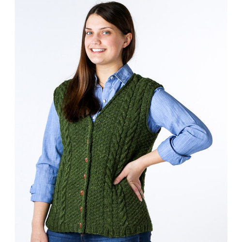 "Valley Yarns 011 Retro Cables Vest Kit - 34.75-38"" (01)"