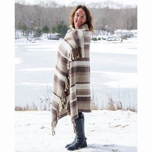 Valley Yarns #112 Heathered Twill Throw Kit - Model (01)