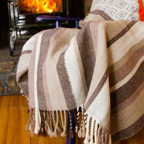 Valley Yarns #112 Heathered Twill Throw PDF -  ()