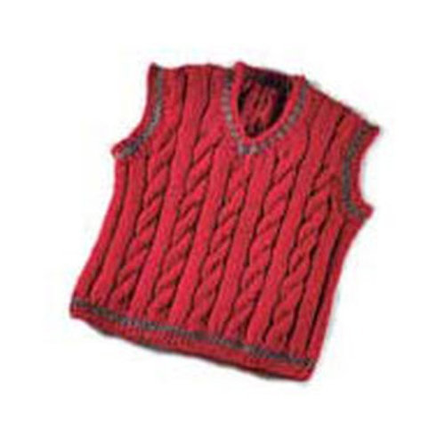 Valley Yarns 119B Daddy & Me Boy's Cabled Vest (Free) -  ()