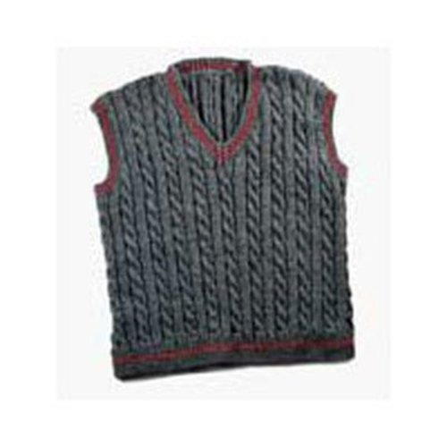 Valley Yarns 119M Daddy & Me Men's Cabled Vest (Free) -  ()